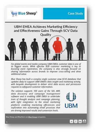 UBM Case Study